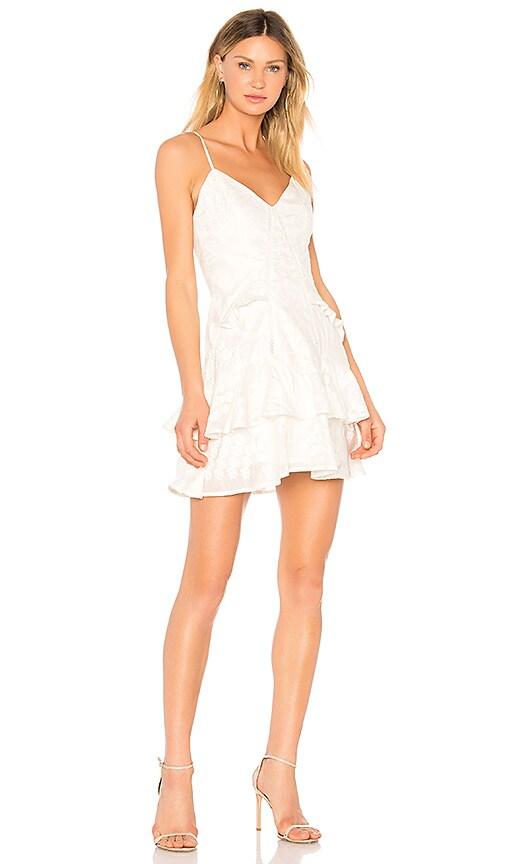 aijek Natalia Ruffled Mini Dress in White