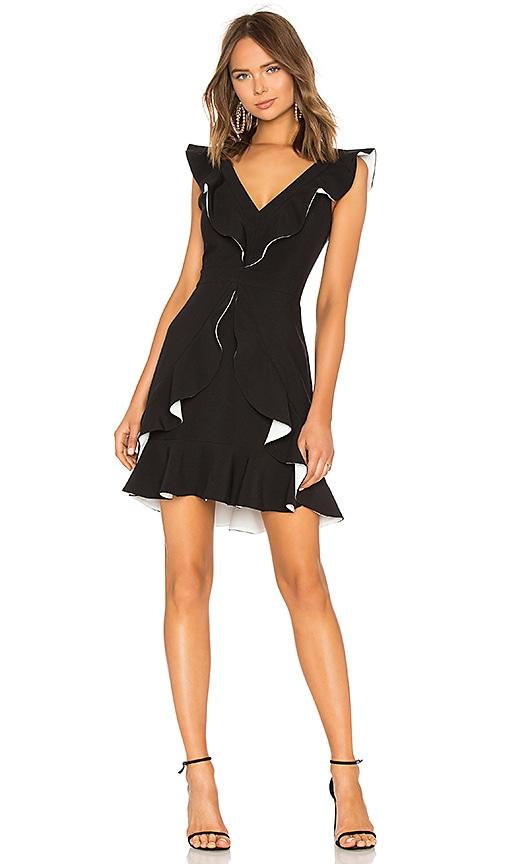 aijek Verona Ruffled Dress in Black