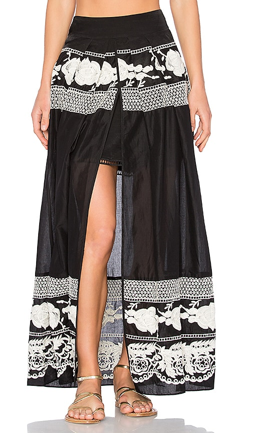 aijek Andrea Maxi Skirt in Black