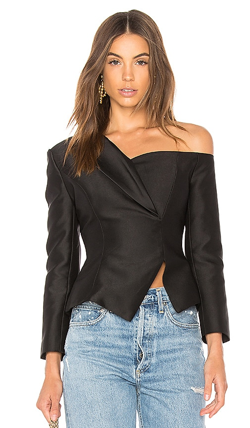 aijek Alma Asymmetric Top in Black