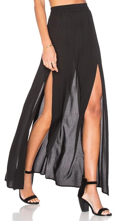 Aila Blue Pupukea Maxi Skirt in Black