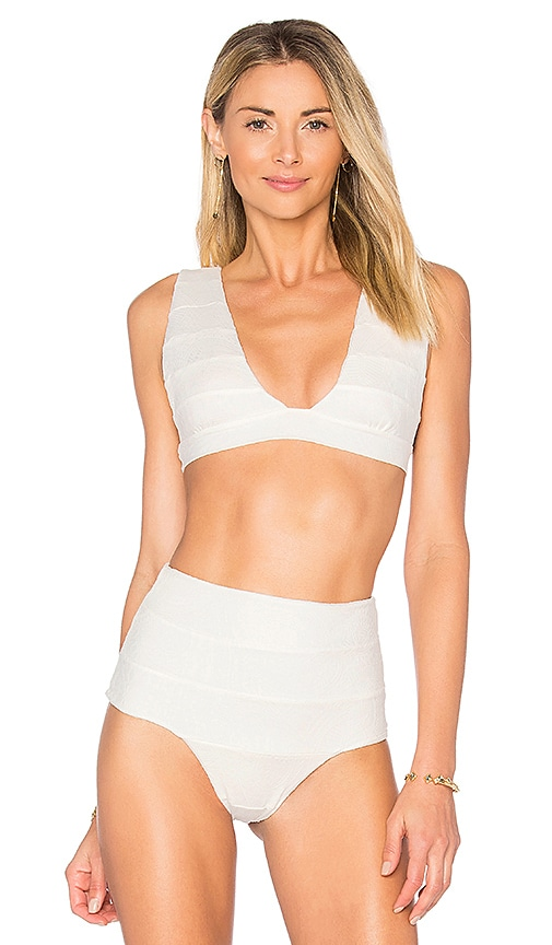 Aila Blue Audrey Crop Top in White