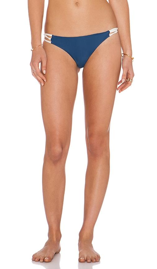 Aila Blue Jardin Bikini Bottom in Midnight & Ivory