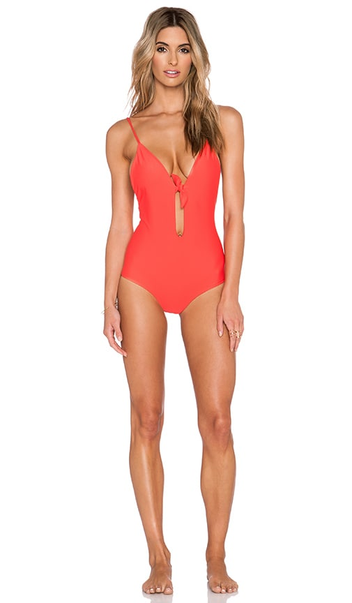 Aila Blue Midnight in Paris Swimsuit in Coral