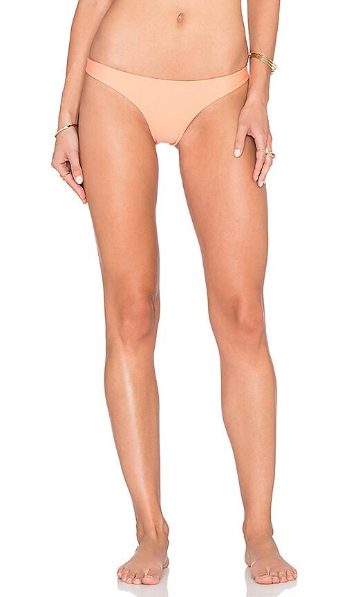 Aila Blue Ocean Cheeky Bikini Bottom in Coral