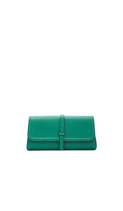 Annabel Ingall Charlotte Clutch in Emerald