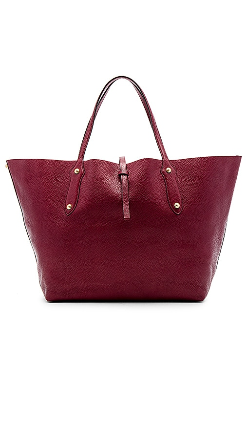 Annabel Ingall Large Isabella Tote in Burgundy