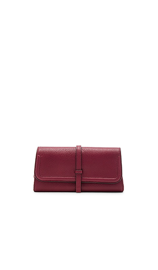 Annabel Ingall Charlotte Clutch in Burgundy