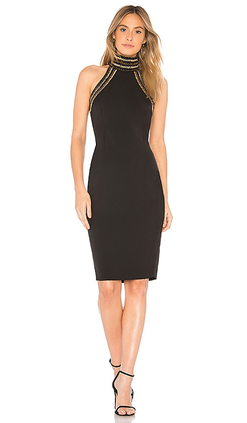 AIRLIE Millie Beaded Dress in Black