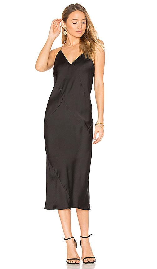 AIRLIE Silana Slip Dress in Black