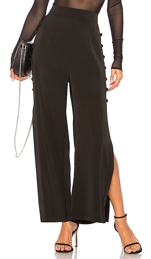AIRLIE Louise Button Pant in Black