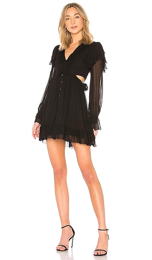 Aje Granadi Ruffle Dress in Black
