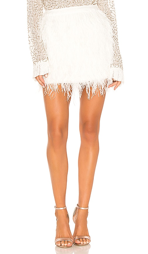 22a4c0a0c7 Aje Wattle Feather Mini Skirt in Ivory | REVOLVE