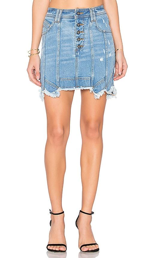 Aje Crawford Mini Skirt in Classic Wash