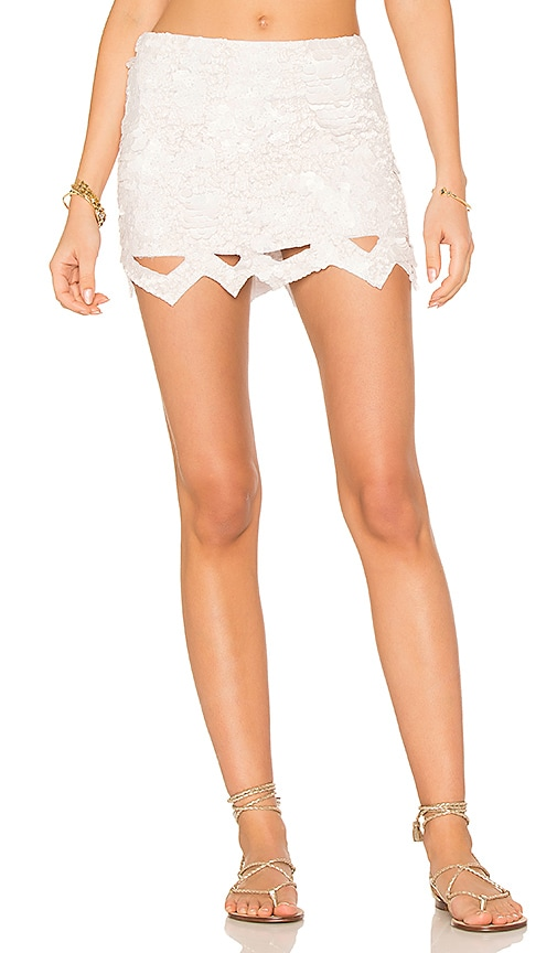 95397c8f32 Aje X REVOLVE Catara Mini Skirt in Ivory | REVOLVE