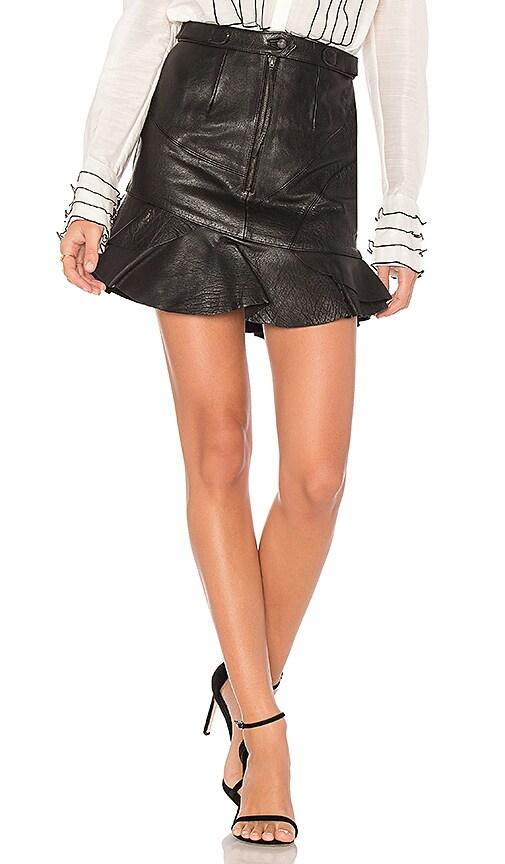 Aje Natalia Leather Mini Skirt in Black