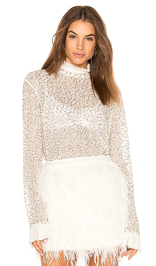 Aje Themeda Embellished Top in White