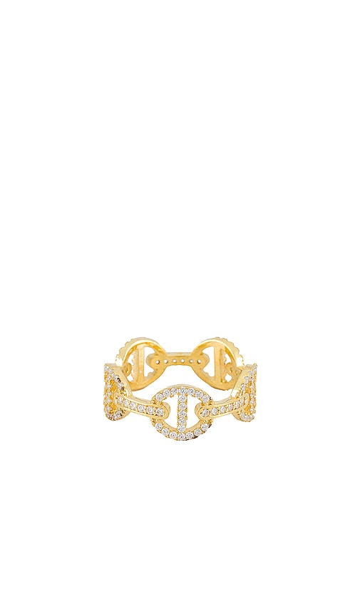 Adinas Jewels PAVE MARINER LINK RING