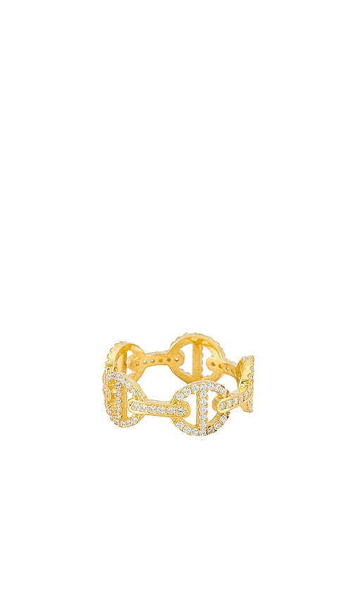 ADINAS JEWELS Accessories PAVE MARINER LINK RING