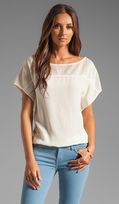Top Mesh Short Sleeve Blouse