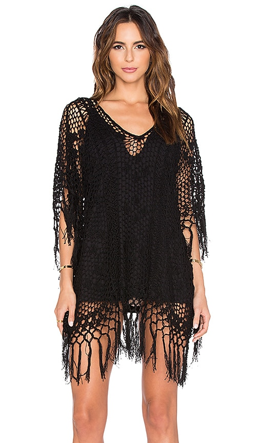 Tassel Poncho Dress