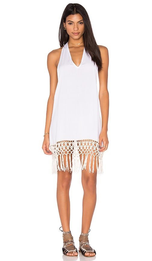 Anna Kosturova Racerback Mini Dress in White