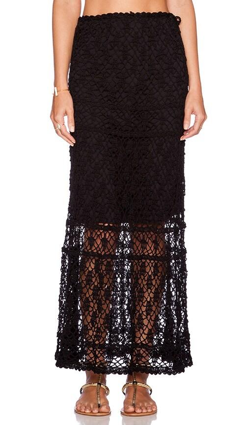 Anna Kosturova Bianca Maxi Skirt in Black