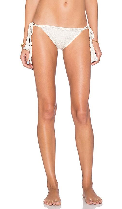 Anna Kosturova Kate Side Tie Bikini Bottom in Cream