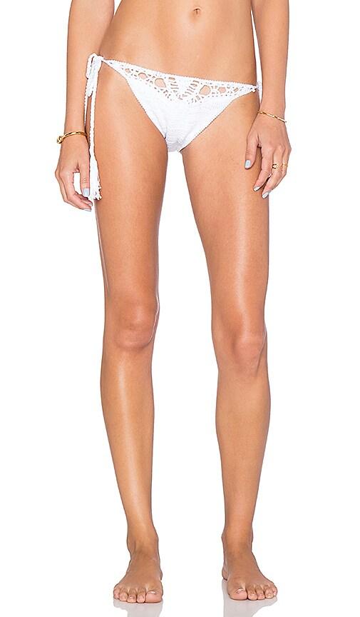 Anna Kosturova Flashback Side Tie Bikini Bottom in White