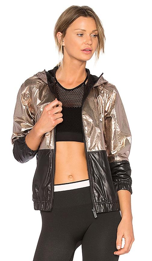 ALALA Metallic Woven Jacket in Metallic Gold