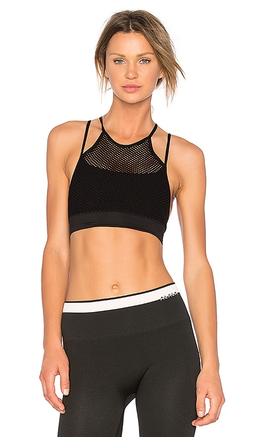 c02eae7f404ab Alala Seamless Layer Sports Bra In Black