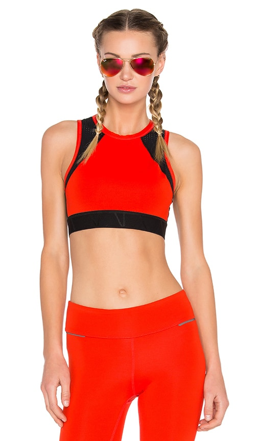 ALALA Swell Crop Tank in Fiery Red