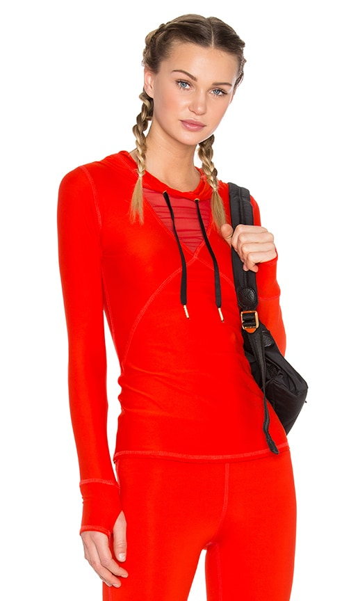 ALALA Flyweight Hoodie in Fiery Red