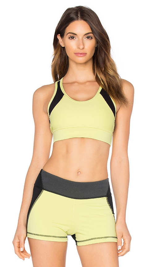 ALALA Zip It Up Bra in Yellow