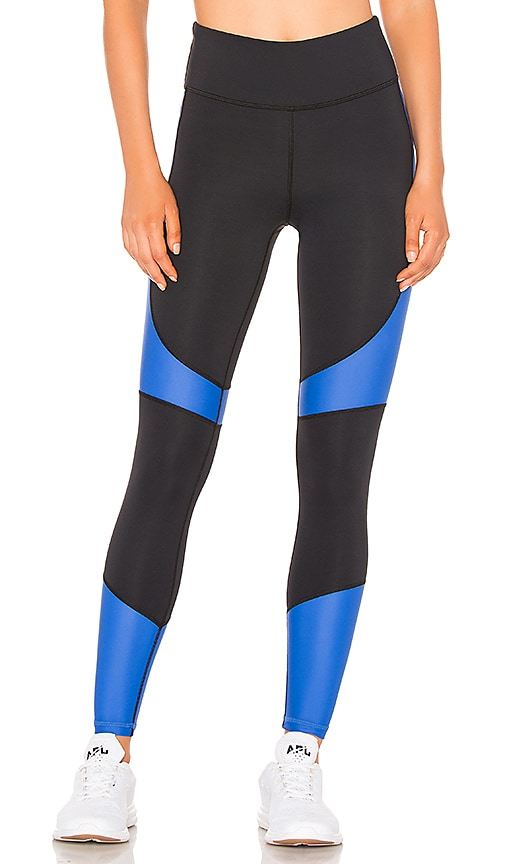 6830b2461dd34 ALALA Vamp Leggings in Black & Royal Blue   REVOLVE