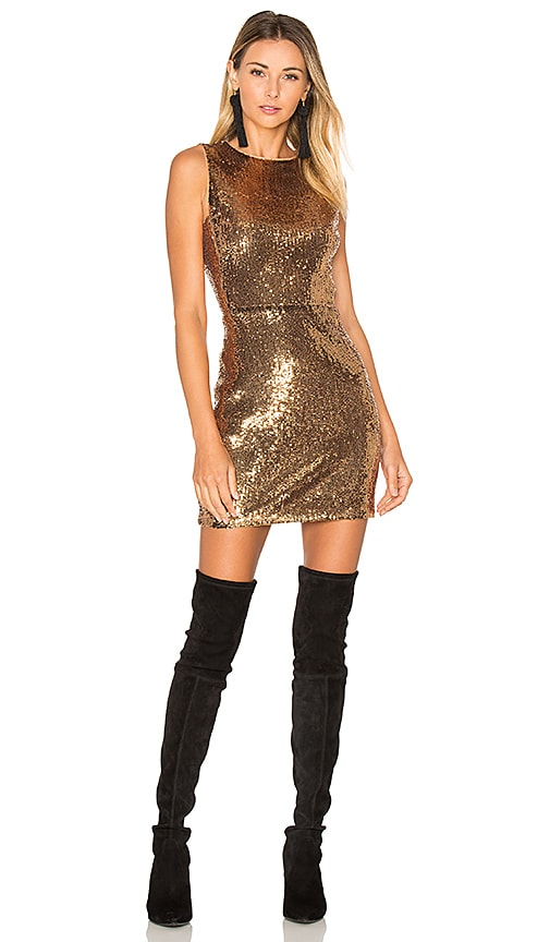 ale by alessandra x REVOLVE Lorena Dress in Metallic Gold