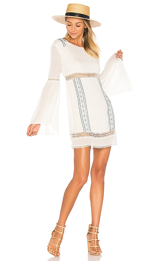 ale by alessandra Luana Long Sleeve Dress in White