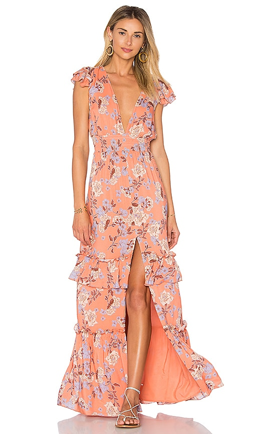 ale by alessandra Lina Maxi Dress in Orange