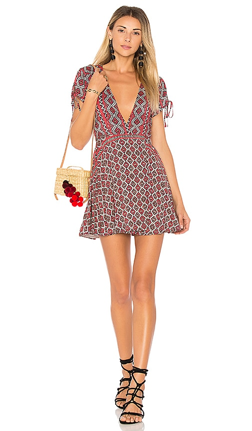 ale by alessandra Lulana Mini Dress in Red