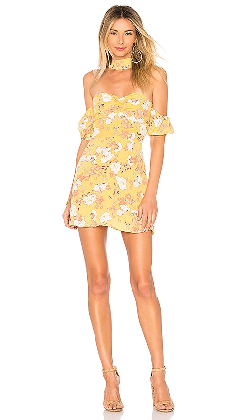 ale by alessandra x REVOLVE Luna Mini Dress in Yellow