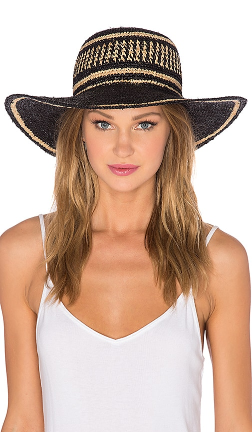 ale by alessandra Makuna Hat in Black Natural