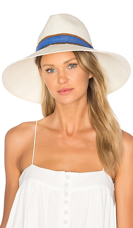 4cc6d74cf72 ale by alessandra Grosvenor Hat in Ivory Denim