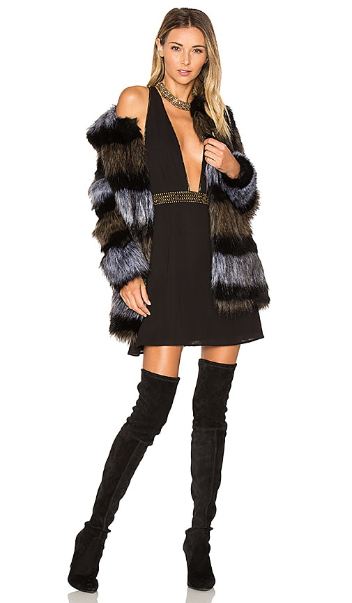 ale by alessandra x REVOLVE Antonella Faux Fur Coat in Black
