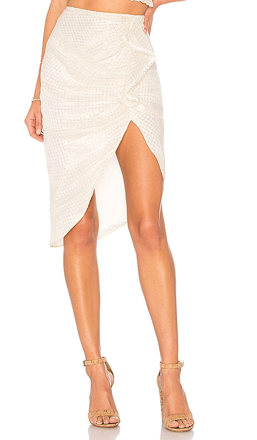 ale by alessandra x REVOLVE Ainoa Skirt in Metallic Gold