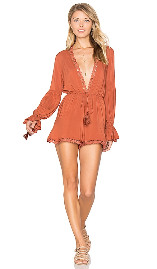 ale by alessandra x REVOLVE Belinha Romper in Rust