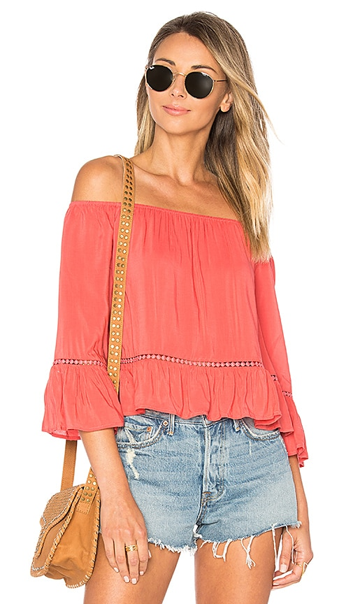 ale by alessandra Fernanda Top in Coral