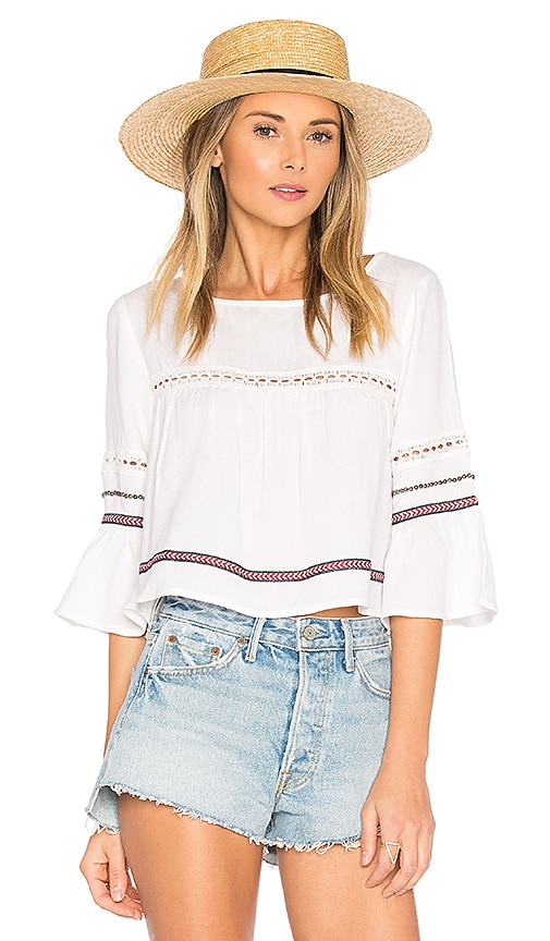 ale by alessandra Alana Top in White