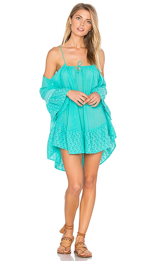 ale by alessandra Cold Shoulder Gauze Dress in Green