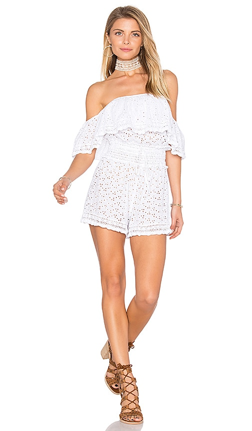 ale by alessandra Eyelet Romper in White