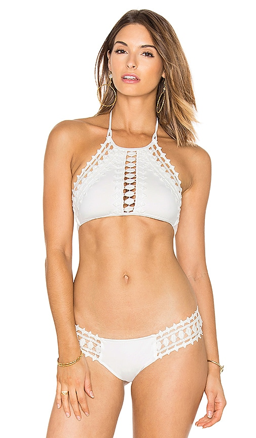 ale by alessandra Free Spirit High Neck Top in White